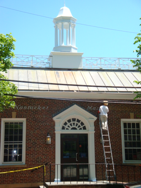 Painting service Cape Cod painting the post office in Nantucket